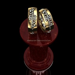 Rings with vintage elements 3D